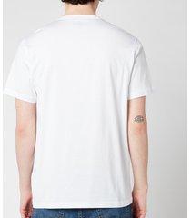 belstaff men's patch logo t-shirt - white - xxl