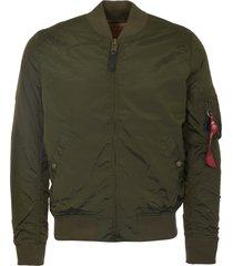 alpha industries dark green ma-1 tt jacket 191103-257