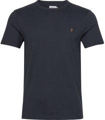 dennis ss tee t-shirts short-sleeved blå farah