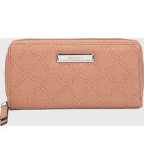 billetera rosa-plateado nine west
