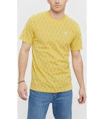adidas originals mono aop tee t-shirts & linnen gul