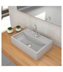 kit cuba para banheiro trevalla q45w válvula click 1 1/2pol cinza claro