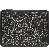 10 corso como studded leather wallet - black
