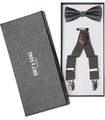 onsbowtie suspender pack accessories suspenders grå only & sons