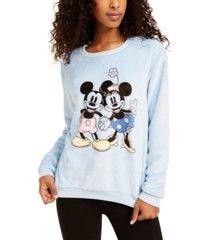disney juniors' mickey & minnie plush sweatshirt