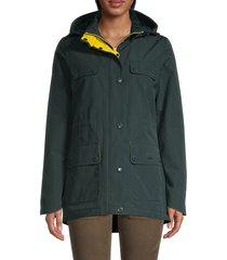 barbour women's metric waterproof hooded jacket - emerald - size 4