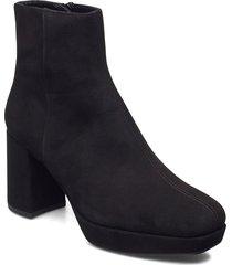 mingo_ks shoes boots ankle boots ankle boot - heel svart unisa