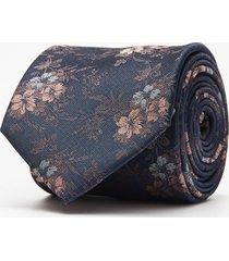 krawat kwiaty granatowy 100