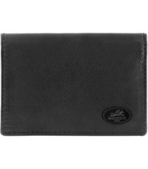 mancini manchester collection men's rfid secure expandable credit card case