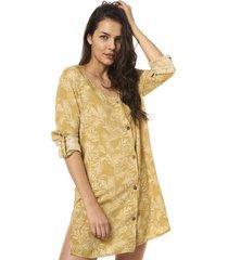 camisa mujer aflora amarillo haka honu