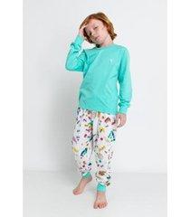 conjunto de pijama infantil acuo longo formiguinha masculino
