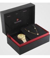 relógio technos 2035mru/k4x dourado