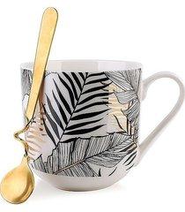 kubek porcelanowy z łyżeczką palma 550 ml