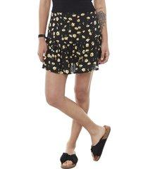 short falda negro flor mujer corona