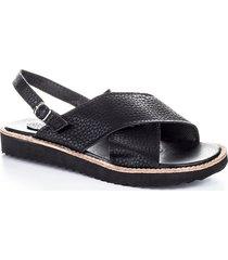 sandalia  negra bennet julia