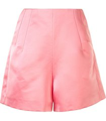 dice kayek satin thigh-length shorts - pink