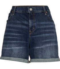 5 mid rise denim shorts shorts denim shorts blå gap