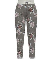 pantaloni cropped in felpa elasticizzata a fiori (grigio) - bpc bonprix collection