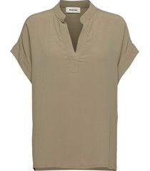 connor top blouses short-sleeved beige modström