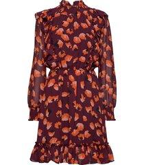 aline short dress korte jurk bruin twist & tango