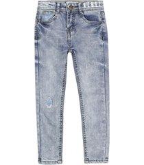 jeans skinny natural denim azul ficcus