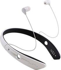 audífonos bluetooth, audifonos bluetooth manos libres  4.0 auriculares estéreo ecouteur auriculares con cuello bm-170 deportes al aire libre con micrófono(blanco)