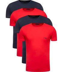 emporio armani 4-pack t-shirts rood/zwart