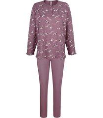 pyjama comtessa rozenhout/ecru/grijs