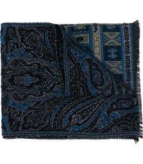 etro chenille evening scarf - blue