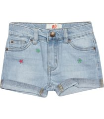 ao76 star embroidered shorts