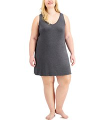 alfani plus size v-neck chemise nightgown, created for macy's