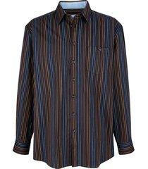 overhemd roger kent zwart::multicolor