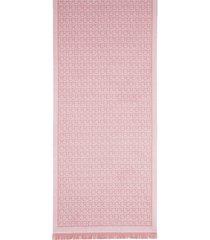 women's salvatore ferragamo gancini wool scarf, size one size - pink