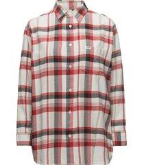 boyfriend shirt långärmad skjorta multi/mönstrad wrangler