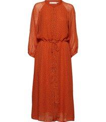 saga long dress knälång klänning orange inwear
