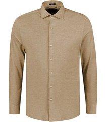 overhemd cut away bruin