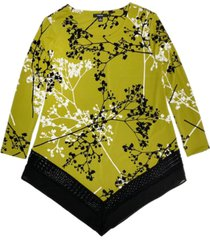 alfani printed woven-hem top, created for macy's