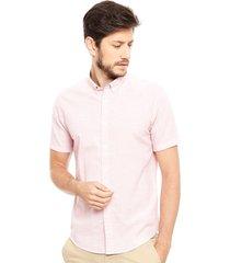 camisa esprit casual coral - calce slim fit