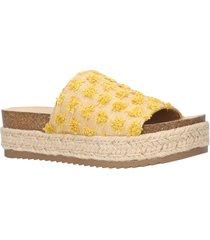 women's bella vita satara platform slide sandal, size 8 m - beige