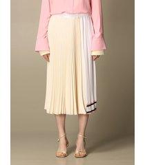 n.21 n° 21 skirt n ° 21 mini skirt in pleated silk blend