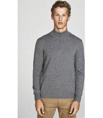 maglia in lana con mezza zip