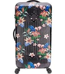 herschel supply co. floral print trolley suitcase - pink