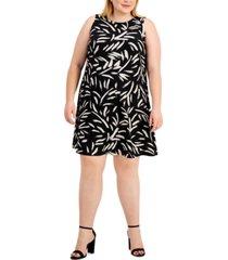 kasper plus size printed dress