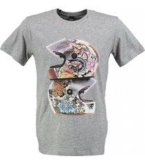 replay stevig zacht grijs t-shirt