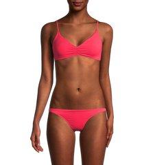 melissa odabash women's marbella 2-piece bikini set - coral - size 42 (6)