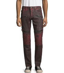 cult of individuality men's greaser moto jeans - brick - size 38