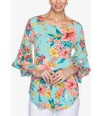 ruby rd. plus size knitted tropical top