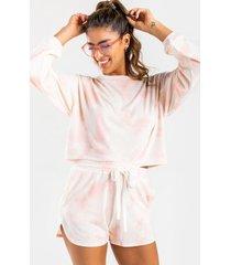 aj tie-dye drawstring shorts - pink