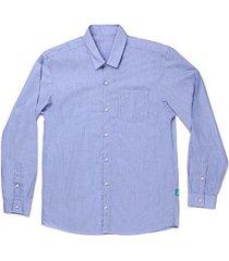 camisa jokenpô adulto em tricoline listrada masculina