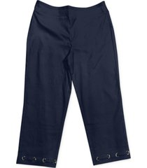 jm collection grommet-trimmed tummy-control capri pants, created for macy's